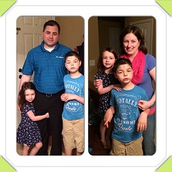 The Brunick Family Lighting it up blue on World Autism Day!