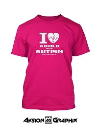 I Love a Child with Autism Pink