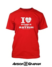 I Love a Child with Autism Red