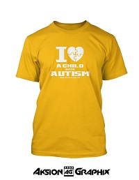 I Love a Child with Autism Yellow